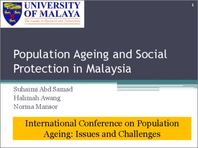 ageing population in malaysia Kuala lumpur: malaysia will be an ageing nation by 2035, when 15 per cent of the population are classified as senior citizens women, family and community development minister datuk seri rohani abdul karim said a forecast by the statistics department revealed that malaysia's senior citizen population (aged 60 and above) would number 56 million by 2035.